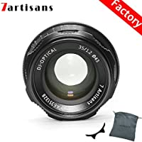 Factory Direct 7artisans 35mm F1.2 APS-C Manual Focus Lens Widely Fit for Compact Mirrorless Cameras Canon Camera M1 M2 M3 M5 M6 M10 EOS-M Mount Black