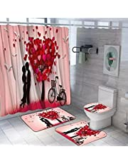 Shower curtain 4 pieces, bathtub curtain, base cover and 2 pedals , 2725615258193