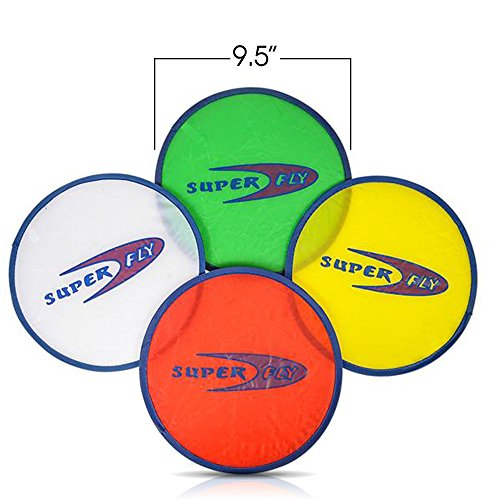 ArtCreativity Folding Pocket Frisbee Set (12 Pack) | Foldable Frisbees for Kids and Adults | Colorful Flying Disc Toys | Fun Birthday Party Favors for Boys and Girls/ Summer Outdoor Activity Game by ArtCreativity (Image #3)