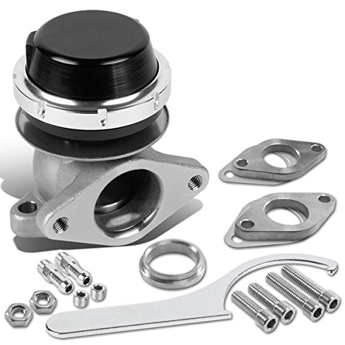 DNA Motoring WG-TS-38MM-T22-BK External Turbo Manifold Wastegate