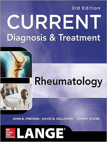 Amazon com: Current Diagnosis & Treatment in Rheumatology