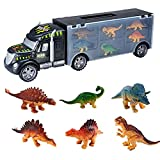 JPJ(TM)1pcs Kids Hot Fashion Dinosaur Truck Dinosaurs Transport Car Carrier Truck Toy with 6...