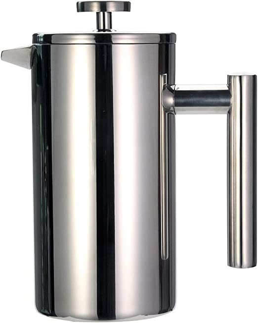 French Press Coffee Tea Maker - Cafetera de Acero Inoxidable ...