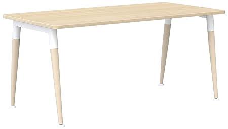 Eol Nativo Rectangular escritorios, Madera, Roble Claro, 160 x 80 ...