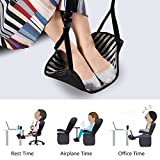 Footrest Hammock, Portable Travel Foot Rest Adjustable for Airplane Journey Office Under Desk Foot Rest