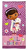 Disney Doc McStuffins Purple Dots 100% Cotton Beach/Bath/Pool Towel, 28'' x 58''