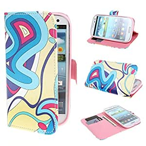 TUTUWEN Lovely Ribbons Style Design Magnetic Wallet PU Leather Stand Case Cover for Samsung Galaxy SIII S3 i9300