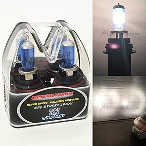 Mega Racer (Box of 2) 9007-HB5 Super White (High/Low Beam) Xenon Halogen 5000K Headlight Light Bulb Head Lamp - Hi/Lo Stock 12V Car