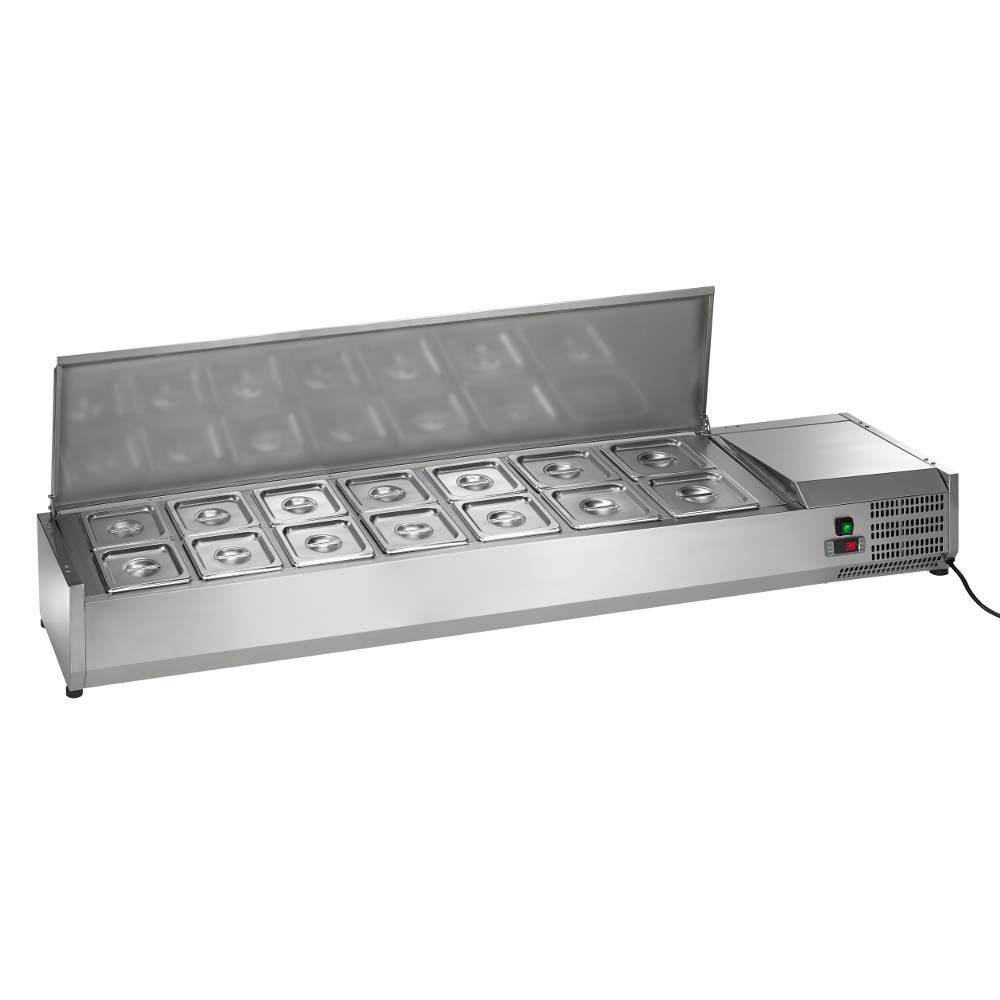 Arctic Air ACP63 Refrigerated Counter-Top Prep Unit, Includes (14) 1/6 Stainless Pans & Covers, 63''W by Arctic Air