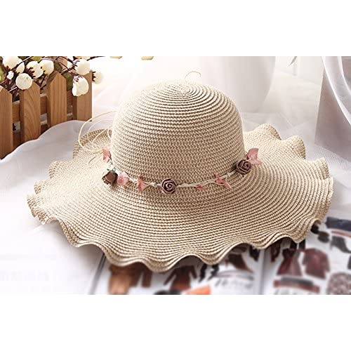 Mejor Kentop Mujer Mujeres Plegable Wide borde sombrero sombrero de paja  playa sombrero sombrero de playa 578ecb0ae7a
