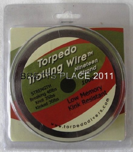 Torpedo Trolling Wire 19 Strand 30# Smoke Fishing Line (Best Lures For Salmon Fishing Lake Michigan)