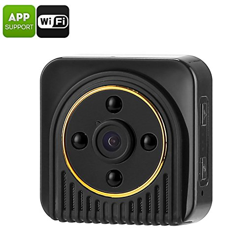 Generic Mini WiFi Security IP Camera + Webcam (10MP CMOS, 720p HD Footage, 150-Degree Angle, Motion Detection, 5m Night Vision)