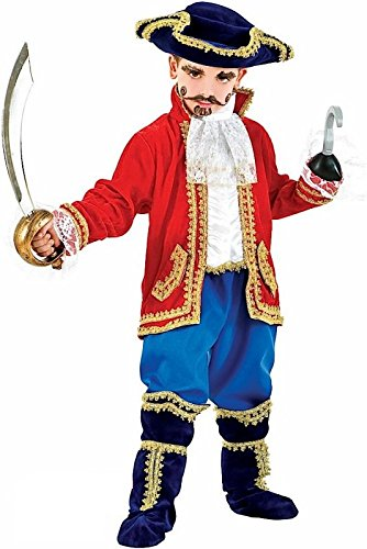 Italian Made Deluxe Baby & Older Boys Girls Pirate Captain Halloween Carnival Fancy Dress Costume Outfit 0-10 Years (3 -