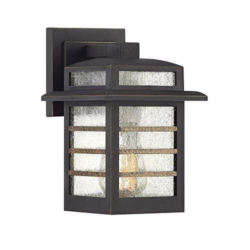 Quoizel PLA8406PN Plaza Outdoor Wall Sconce Lighting, 1-Light, 100 Watt, Palladian Bronze (9