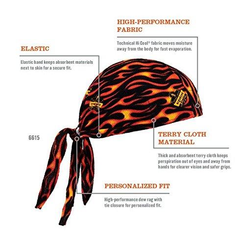 Ergodyne 6615 High-Performance Dew Rag Flames