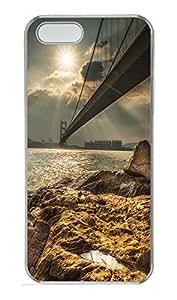 iPhone 5 5S Case Golden Gate Bridge PC Custom iPhone 5 5S Case Cover Transparent