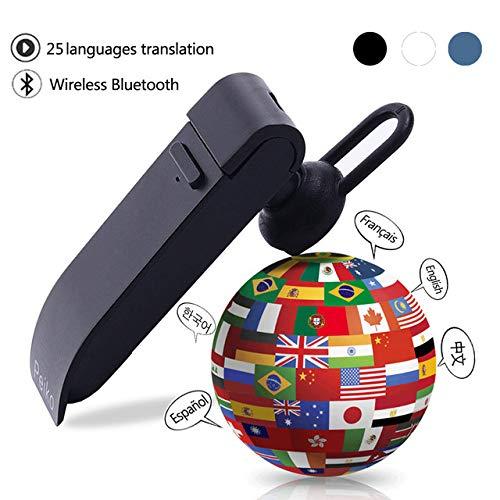 DragonPad Smart Language Translator Device, Electronic Translator Portable Bluetooth Multi-Language Translation, 25 Languages Wireless Translator Headset for Learning Traveling Business Meeting Blue from DragonPad