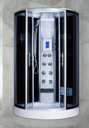 Colonna Doccia Con Bagno Turco.Cabina Idromassaggio 100x100 Multifunzione Con Radio Telefono Sauna