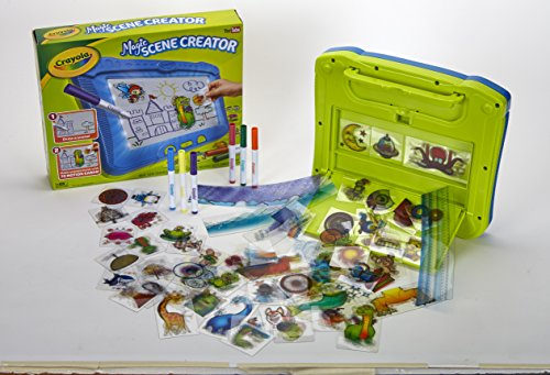 Large Product Image of Crayola Magic Scene Creator, Drawing Kit for Kids, Creative Toys, Ages 3, 4, 5, 6, 7