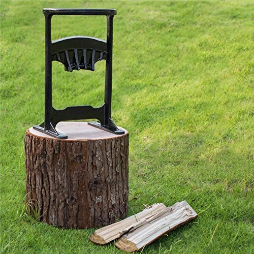 Sale!! Wood Kindling Splitter Hand Grinding Blade (45# Steel, 14lb) Safe & Easy Way to Split Logs/Ch...