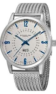 Stuhrling Original Men's 345M.331116 Classic Ascot Jupiter Swiss Quartz Day and Date Stainless Steel Mesh Watch