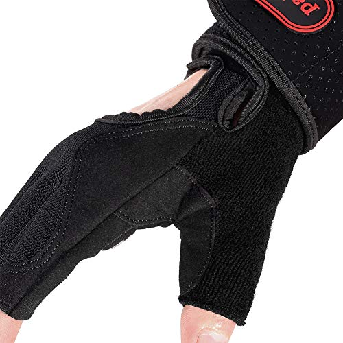paissit Weight Lifting Glove,Workout Gloves for Men/& Women,Training Gloves with Wrist Support for Fitness Exercise Weight Lifting Gym,Home Use with Short Wraps Fingerless