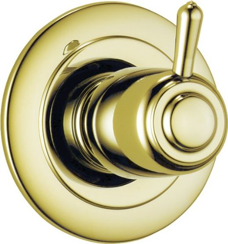 Delta Faucet 3-Setting Shower Handle Diverter Trim Kit, Polished Brass T11800-PB (Valve Not Included)