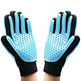OCEANTREE Pet Grooming Gloves, 【Upgrade Version】 2Pack Hair Remover Glove Brush For Cats Dogs & Horses,Pet Bath Massage Gloves, Pet Hair Removal Gloves Brush (1 Pair)