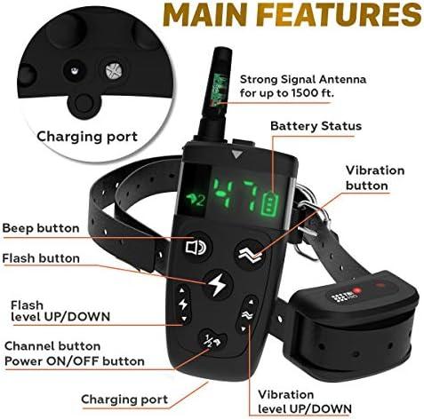 TBI Pro Professional Dog Training Collar with Remote  LongRange 1600 feet  Flash Vibration Control