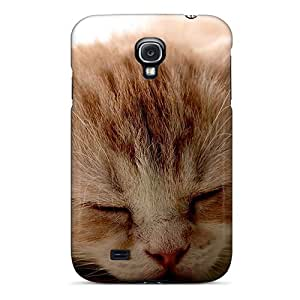 Galaxy S4 Cover Case - Eco-friendly Packaging(red Kitten Sleeping)