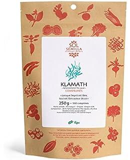 Klamath sol Semilla, alga AFA - Calidad Crude y salvaje | 500 tabletas | 250