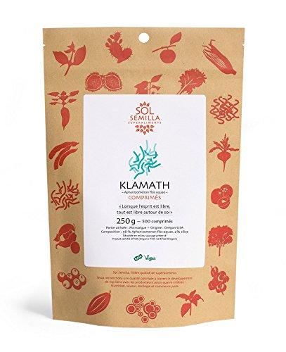 Klamath sol Semilla, alga AFA - Calidad Crude y salvaje | 500 tabletas | 250 g: Amazon.es: Salud y cuidado personal