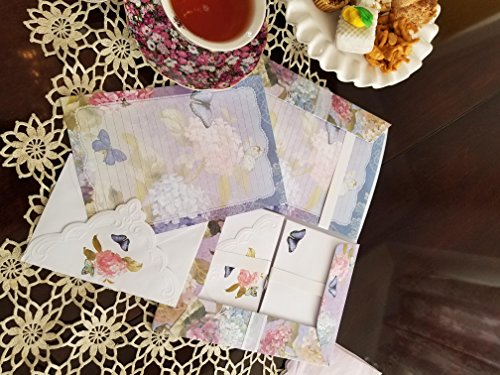 Embossed Writing Paper Set- Whimsical Wishes Design from Carol Wilson Fine Arts Inc.
