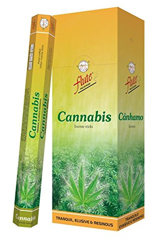 monthlysupply Incense Sticks Flute Cannabis Agarbatti 120 Sticks Hexa Packets ()