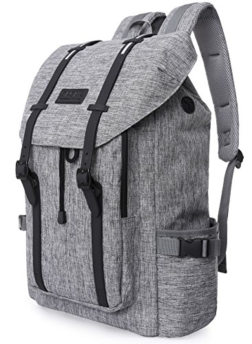 Travel Outdoor Computer Backpack Laptop Bag (Grey) - 6