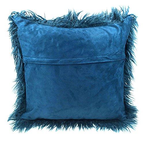 Fur Throw Pillow Covers : Super Soft Plush Mongolian Faux Fur Throw Pillow Cover Cushion Case Home Decor eBay