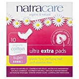 Natracare Organic Cotton Ultra Extra Super Pads with Wings 10 per pack (PACK OF 4)
