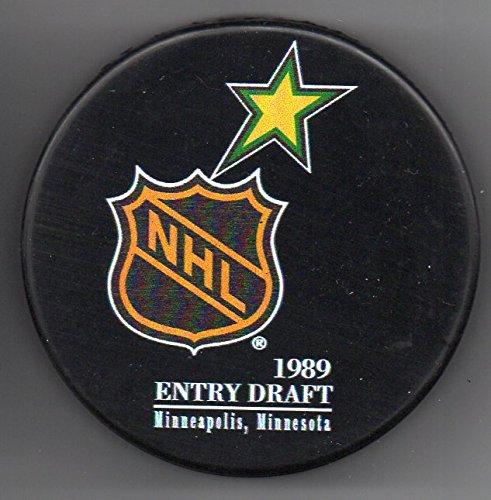1989 NHL Entry Draft Minnesota North Stars Met Center Minneapolis, MN NHL Hockey Puck + FREE Cube