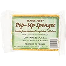 Trader Joe's Pop up Sponges Made From Natural Vegetable Cellulose