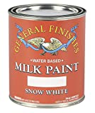 paint for cabinets  QSW Water Based Milk Paint, 1 Quart, Snow White