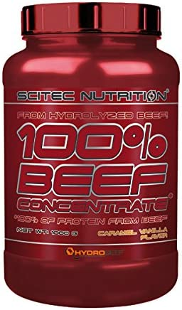Scitec Nutrition 100% Beef Protein Concentrate proteína Caramelo vainilla 1000 g