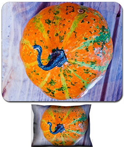 Liili Mouse Wrist Rest and Small Mousepad Set, 2pc Wrist Support IMAGE ID 32627412 The famous halloween pumpkins Accompany you to make jokes and ask for treats -