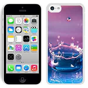 Hot Sale iPhone 5C Cover Case ,Abstract Macro Droplet Water Splash White iPhone 5C Phone Case Unique And Fashion Design