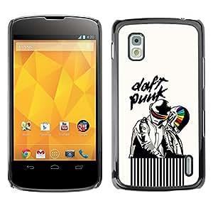 """For LG Nexus 4 E960 , S-type Artistas Daft"""" - Arte & diseño plástico duro Fundas Cover Cubre Hard Case Cover"""