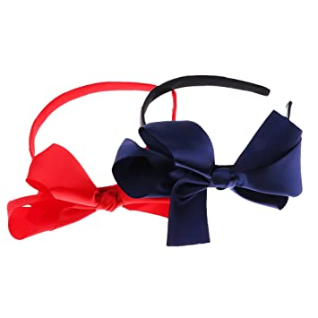 Amazon.com   D DOLITY 2Pcs Newborn Baby Headband Ribbon Headdress Kids  Girls Hair Band Bow Knot   Baby a4d63ecb024