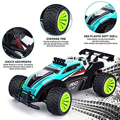 Remote Control Car - Geburun 1/16 Scale High Speed RC Racing Cars 25 KM/H,2.4 GHz Off Road RC Truck for Boys & Girls,2 Rechargeable Batteries for 30 Min Play, Toy Gifts for Kids: Toys & Games
