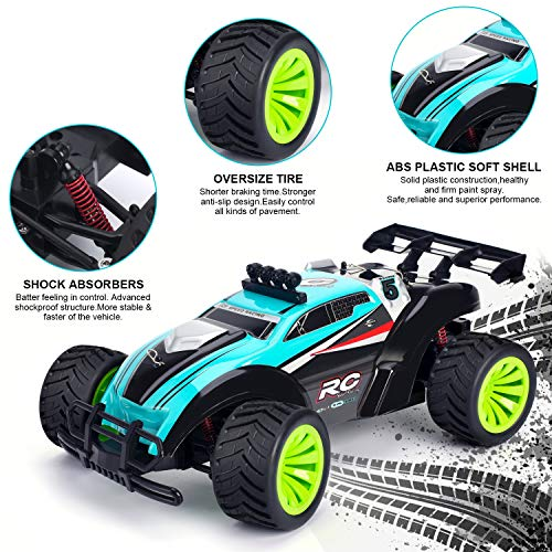 Geburun 1//16 Scale 2.4 GHz High Speed RC Racing Cars 25 KM//H Off Road RC Truck