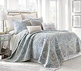 Spruce Spa Twin Cotton Quilt Set, Blue