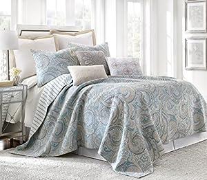Amazon.com: Spruce Spa King Cotton Quilt Set, Blue: Home & Kitchen : cotton quilts king - Adamdwight.com