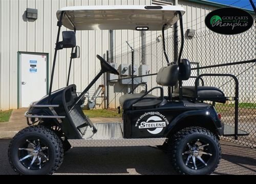 EZGO TXT Electric Golf Cart 2001-Newer 6'' Lift Kit + 12'' Wheels and 23'' All Terrain Tires (4) by Golf Cart Tire Supply (Image #6)